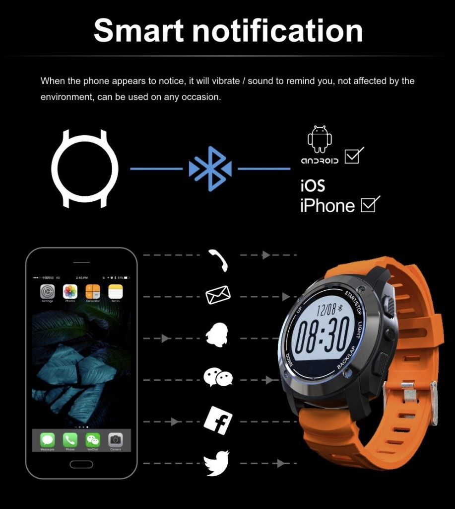 S928 Sports Smartwatch notifications