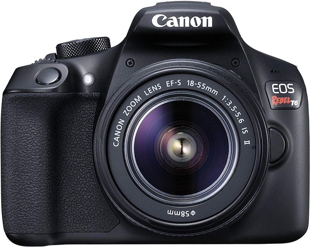 Canon EOS Rebel T6 camera front
