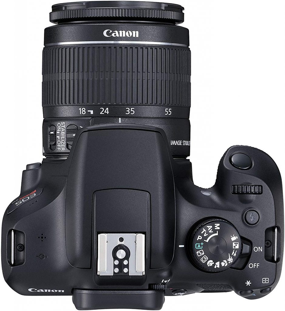 Canon EOS Rebel T6 top view
