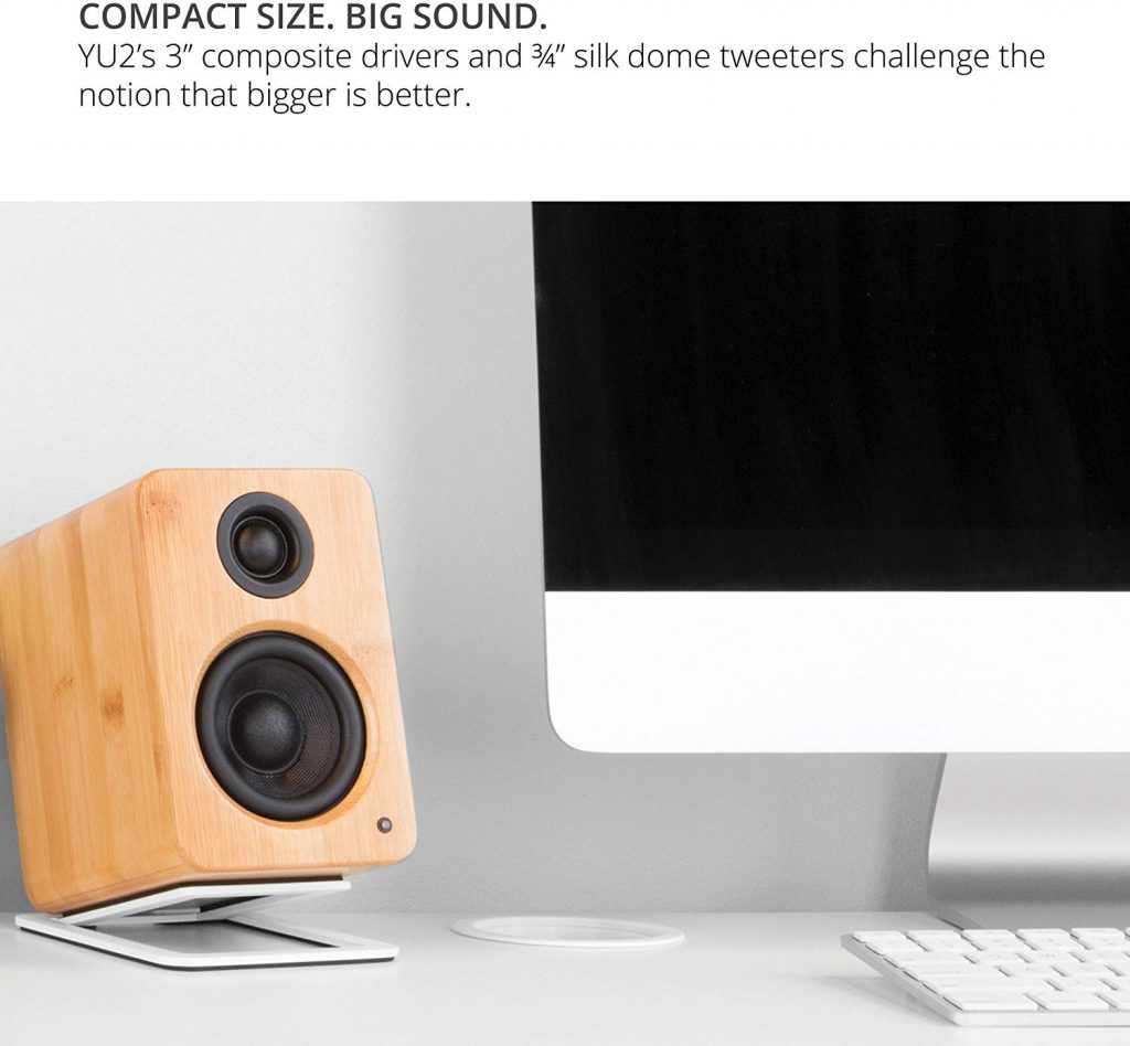 Kanto 2 Channel Powered PC Gaming Desktop Speakers in action