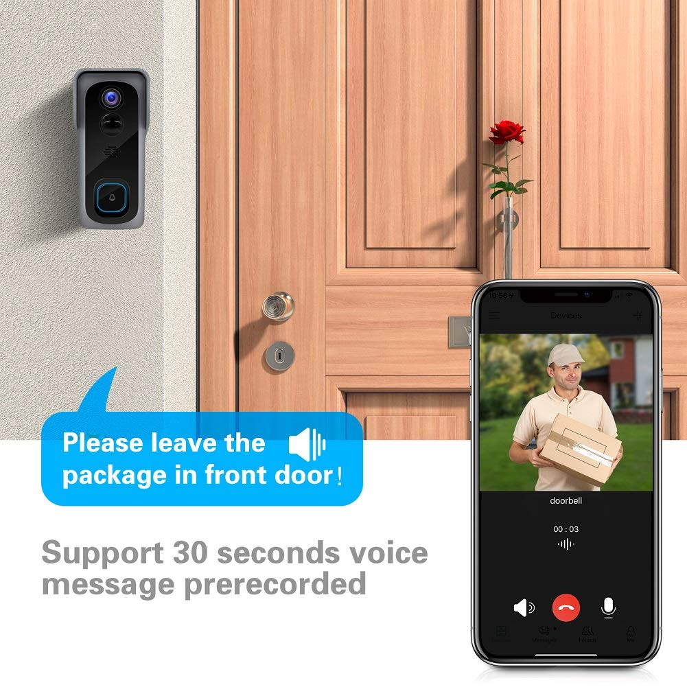 WiFi Video Doorbell Camera with Chime voice
