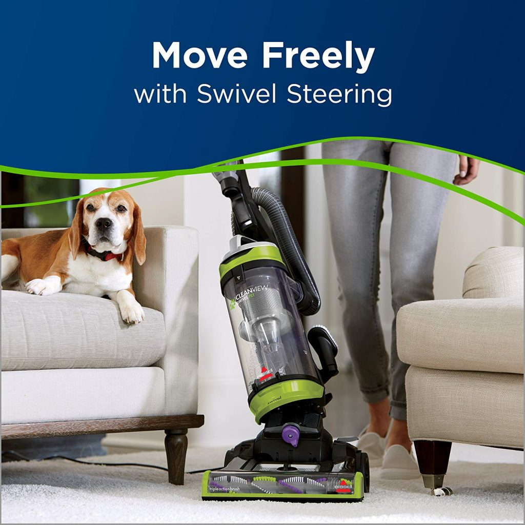 BISSELL Cleanview Swivel Pet Upright Bagless Vacuum swivel
