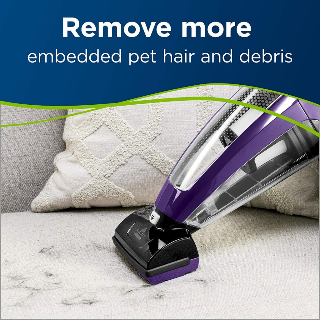 BISSELL Pet Hair Eraser Cordless Hand Vacuum in use