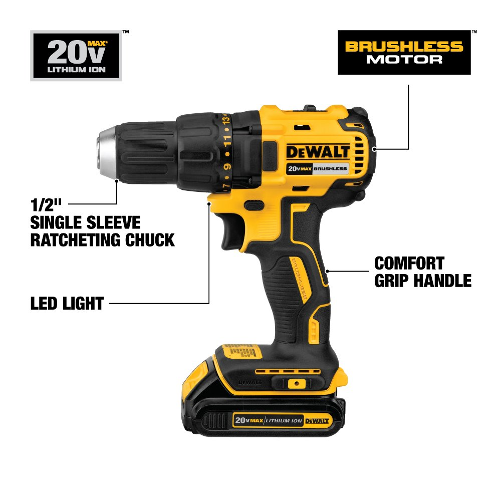 DEWALT DCD777C2 Drill Driver features