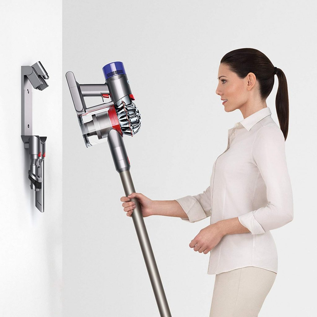 Dyson V7 Animal Pro+ Cordless Vacuum charger wall