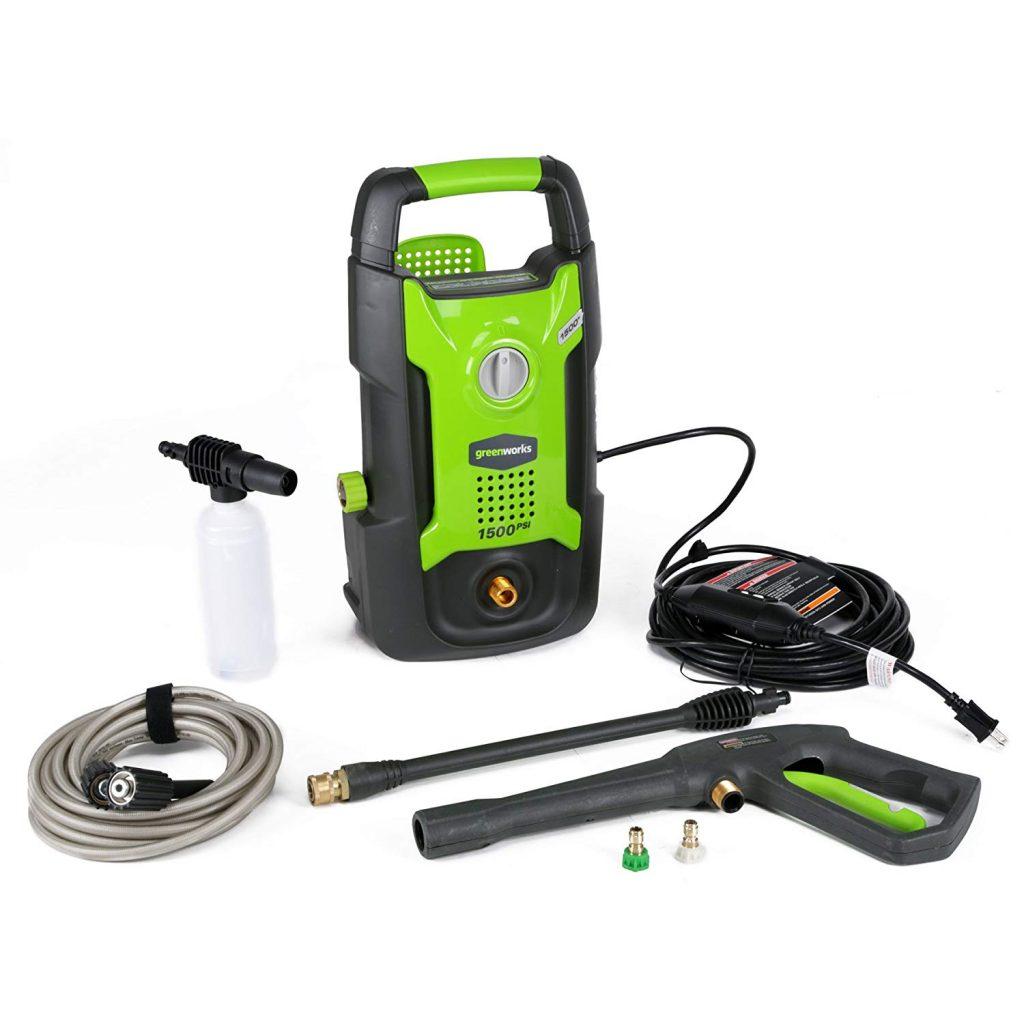Greenworks 1500 electric pressure washer