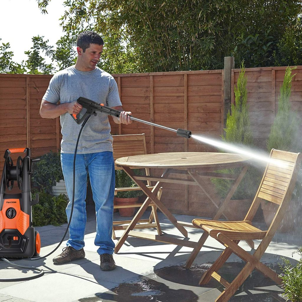 PAXCESS Electric Pressure Washer in use