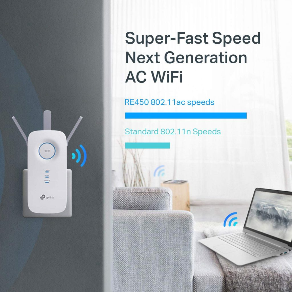TP-LINK AC1750 Wi-Fi Range Extender speed