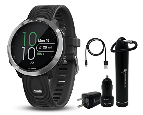 Garmin Forerunner 645 GPS Running Watch with Contactless Payments and Wrist-Based Heart Rate and Wearable4U Ultimate Power Pack Bundle (Black, Standart Edition)