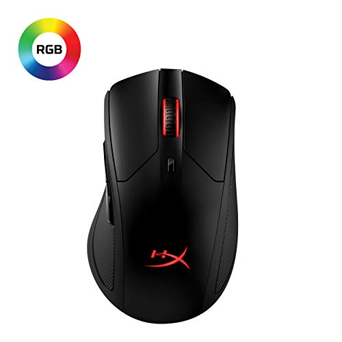 HyperX Pulsefire Dart - Wireless RGB Gaming Mouse - Software-Controlled Customization - 6 Programmable Buttons - Qi-Charging Battery up to 50 Hours - PC, PS4, Xbox One Compatible