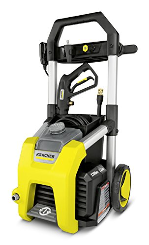Karcher K1700 Electric Power Pressure Washer 1700 PSI TruPressure, 3-Year Warranty, Turbo Nozzle Included