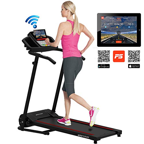 Murtisol Smart Digital Electric Folding Treadmill W/Bluetooth MT-1600 Small Compact Running Workout Machine Good for Home/Apartment/RV Running Jogging Walking