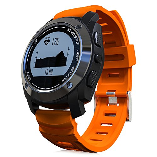 S928 GPS Real-time Heart Rate Monitor Smart Watches With Air Pressure Environment Temperature Height 3D Accelerometer + Gyroscope for IOS & Android