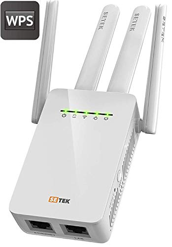 Superboost WiFi Extender Signal Booster Long Range up to 2500 FT, 300 MBPS Wireless Internet Amplifier - Covers 15 Devices with 2 External Advanced Antennas, 5 Working Modes, LAN/Ethernet (White)