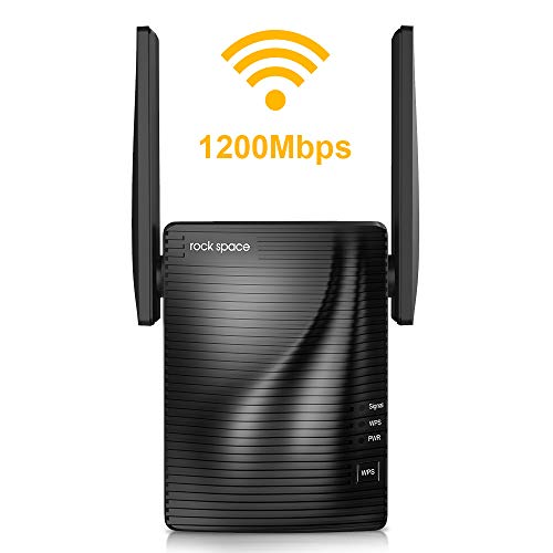WiFi Range Extender-2.4 & 5GHz Dual Band Wireless Repeater,1292 sq.ft Wirerless Range & Up to 1186Mbps High Speed, WPS One Button Setup with Advanced Security, Work with Any Router & Alexa Device